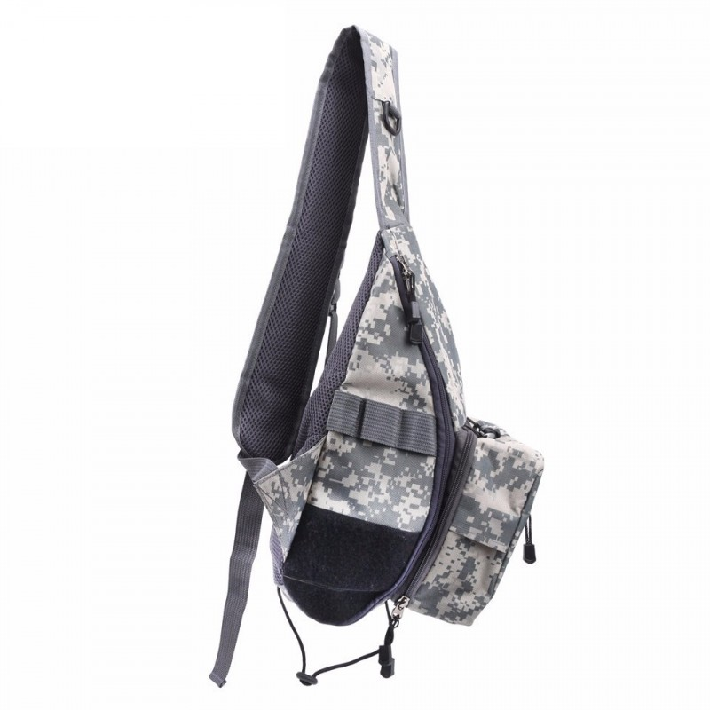 CAMO Color V-Loc Durable Shoulder Fly Fishing Sling Pack