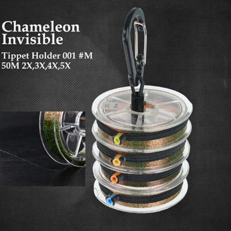 4 Spools Tippet Line with Tippet Holder & Spool Tender