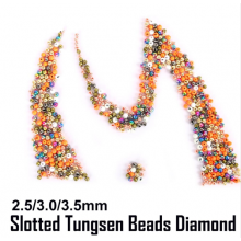 Diamond Cut Slotted Tungsten Beads Fly Tying Beads