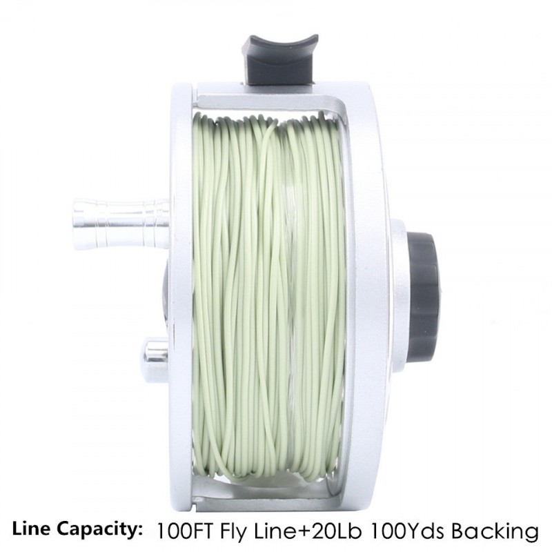 ECO Fly Reel Pre-spooled with Floating Fly Line Backing Line Leader