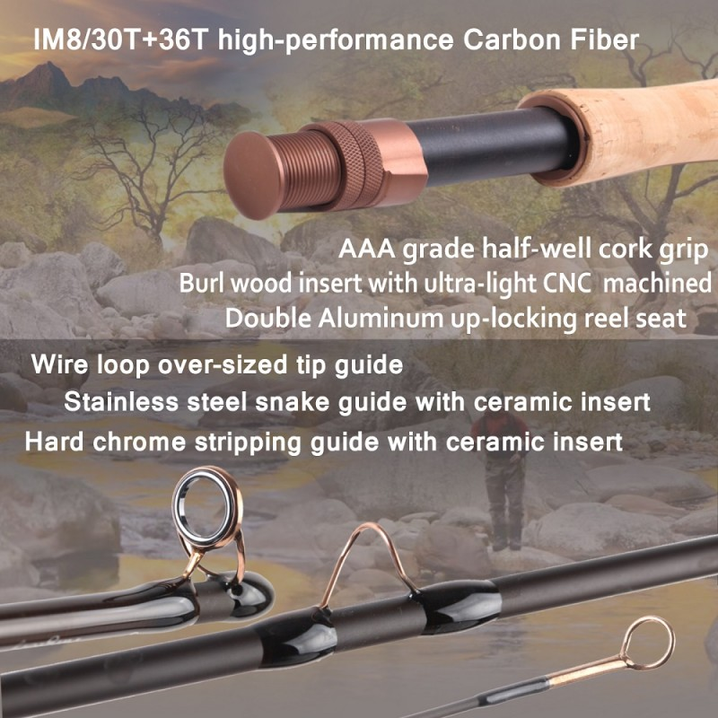 Farglory 36T SK Carbon Fly Fishing Rod with 16''Extra Extension Section