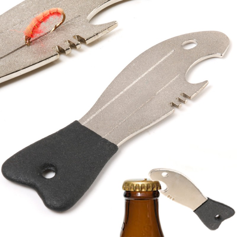 Lot 2 Pcs Fishing Hook Hone And Bottle Opener Fishing Hook Sharpener