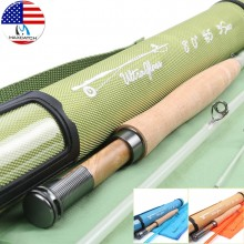 8FT /7FT Fiberglass Fly Fishing Rod Blue/ Orange/ Green