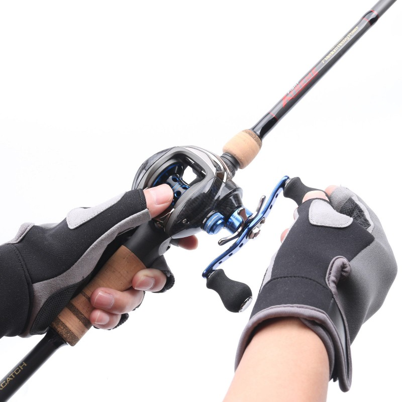 Fingerless Fishing Gloves Nonslip Fighting