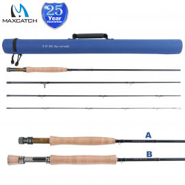Nano Fly Fishing Rod  Carbon Fast Action Super Light 3/4/5/6/7/8WT 8'4''/9'