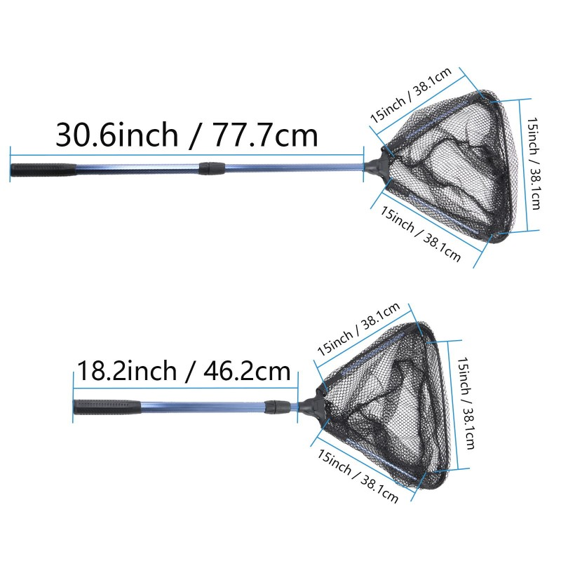 New Folding Fly Fishing Landing Net with Telescoping Handle Fishing Net