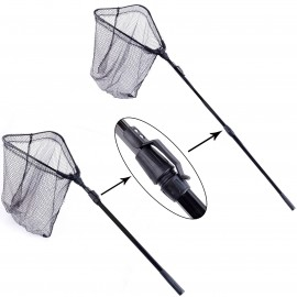 Folding Fly Fishing Landing Net with Telescoping Handle Fishing Net