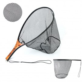 High-Tech FL100 Burl Wood Handle Carbon Frame Landing Net