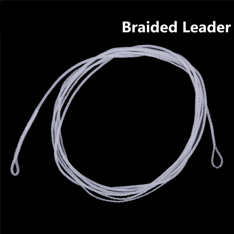 Maxcatch 2pcs/lot 6/10ft 20lb Braided leader Line Floating Leader Fly Fishing Line with 2 Loops