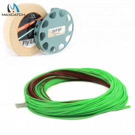 Mainstream Weight Forward Floating with Sinking Tip 80FT 4-8WT Brown/Green Color Fly Line
