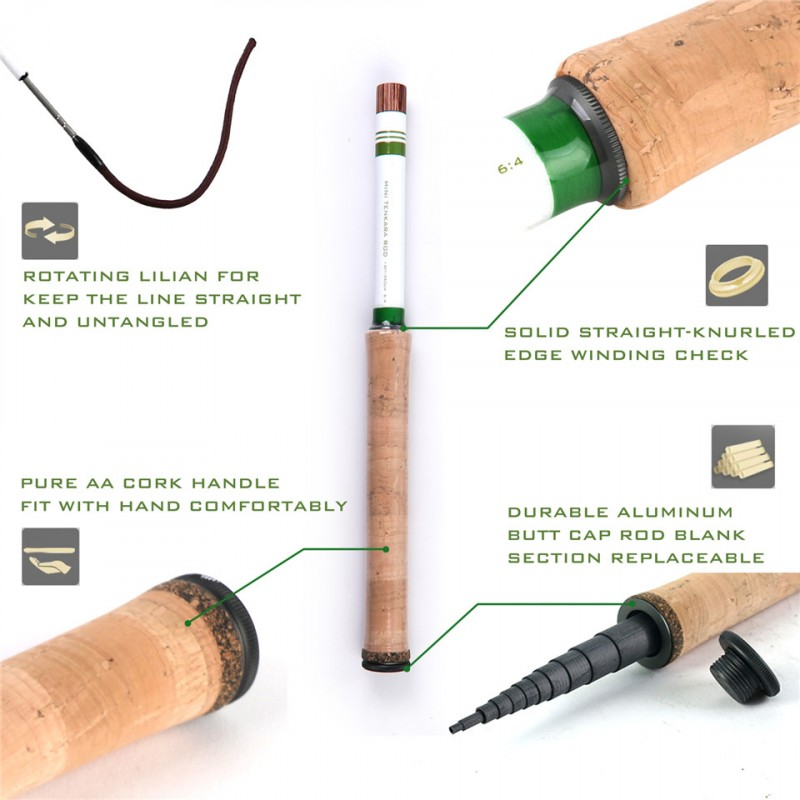 Mini Tenkara 9FT/12FT Telescoping Tenkara Fly Rod