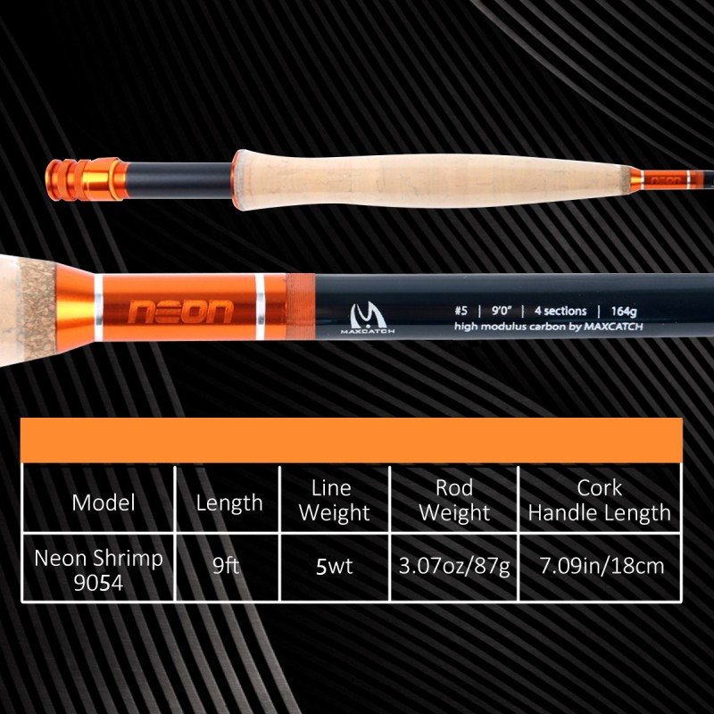 [NEW] Neon Shrimp All Water Series Fast Action Fly Rod