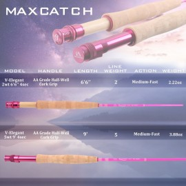 Elegant Pink Fly Rod