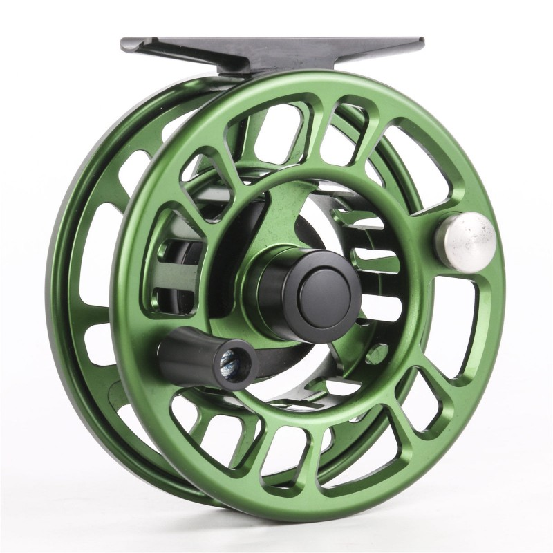 Olive Green Panfish Fly Fishing Reel CNC Machine Cut Reel