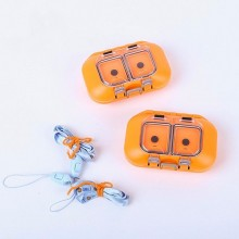 Orange&Grey Plastic Fishing Box High Quality Fly Box