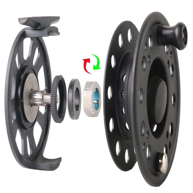 Plastic Fly Fishing Reel 5/6WT Right Or Left Can Be Changed Plastic Fly Reel