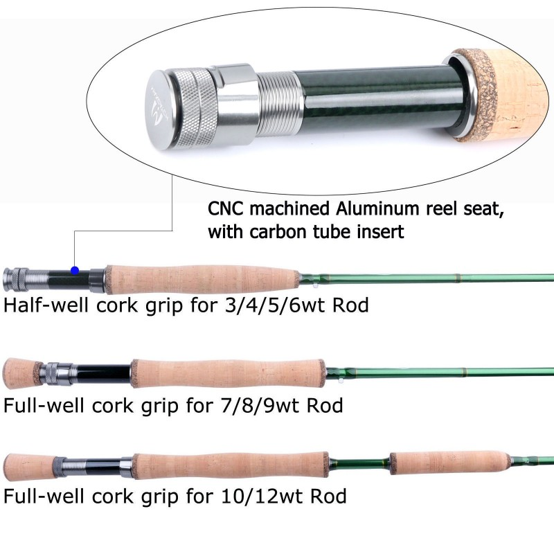 Premier Fly Fishing Rod with Avid fly reel (includes rod tube) Fly Rod and Reel Combo