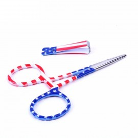 Maxcatch Fly Fishing Forceps Clamps Hemostats & Line Nipper Accessories US Flag Print