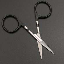 Shaft Scissors Fly Tying Tungsten Carbide Blade Straight Black