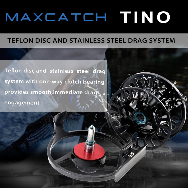 Tino Handed Die-casting Aluminum Black Fly Fishing Reel