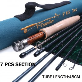 Camping Traveler 9FT 7-piece Medium-Fast Fly Fishing Rod