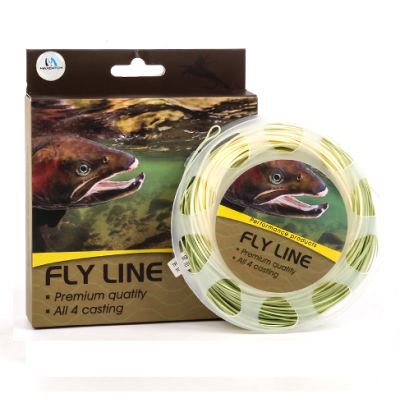 Trout Fly Fishing Line 4/5/6wt Beige/Sage Weight Forward Floating Fly Line With Welded Loops
