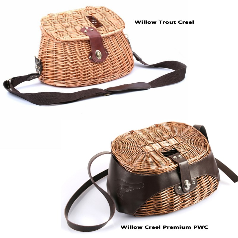 Classical Wicker Trout Fishing Creel Vintage Fishing Tackle Box Willow Fishing Basket