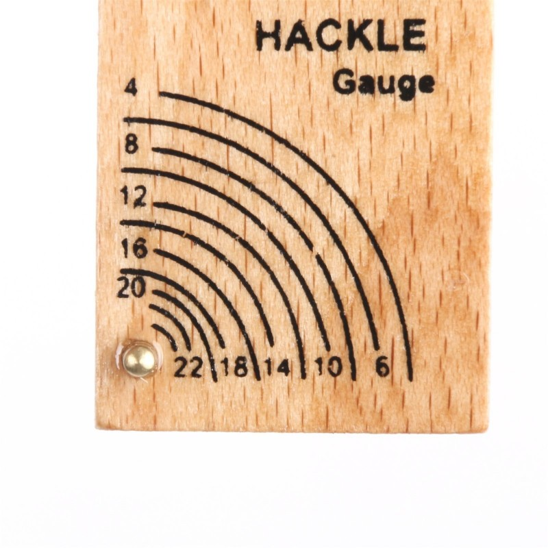 Fishing Hackle Gauge Measure Hackle Size & Hook Size (3''×1''×0.25'') --- 3pcs