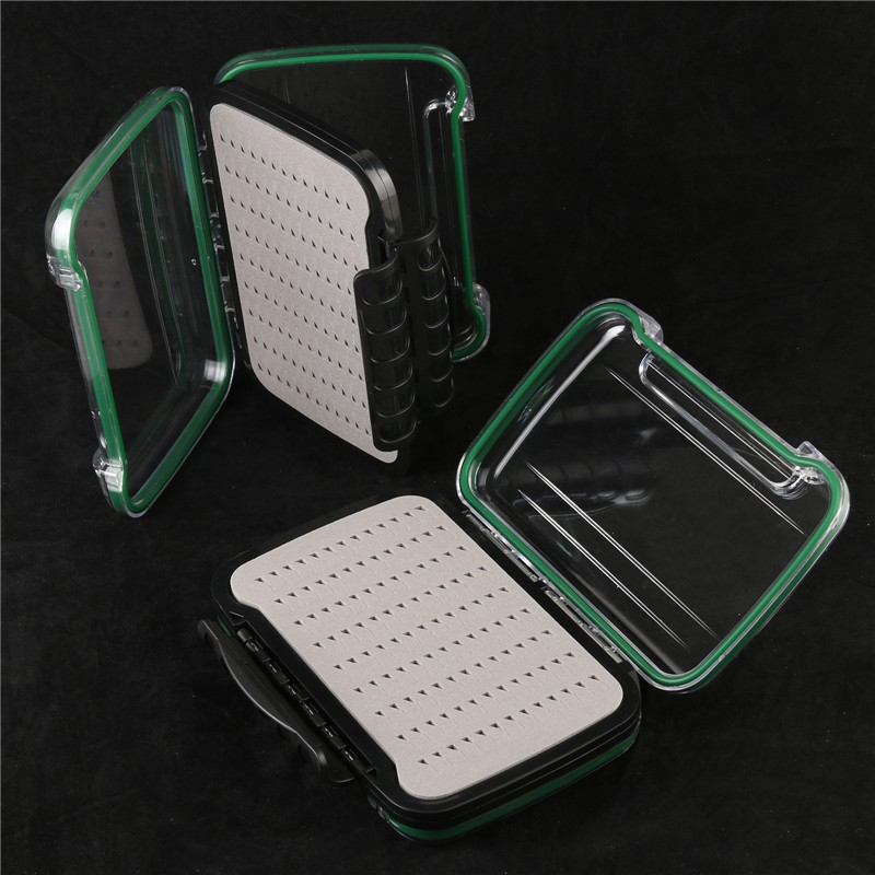 Fly Fishing Box Plastic Double Side Fly Box With Slit Foam Inside Fly Box