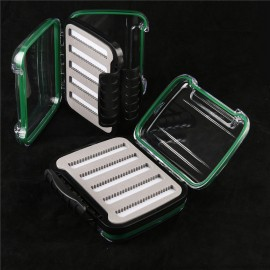 Fly Fishing Box Double Side Open With Slit Foam Inside Waterproof Fly Box