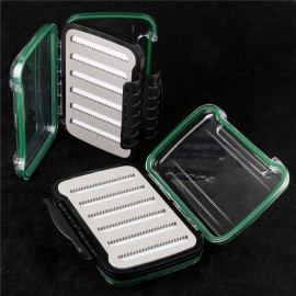 Fly Fishing Box Plastic Double Side Waterproof With Slit Foam Inside Fly Box