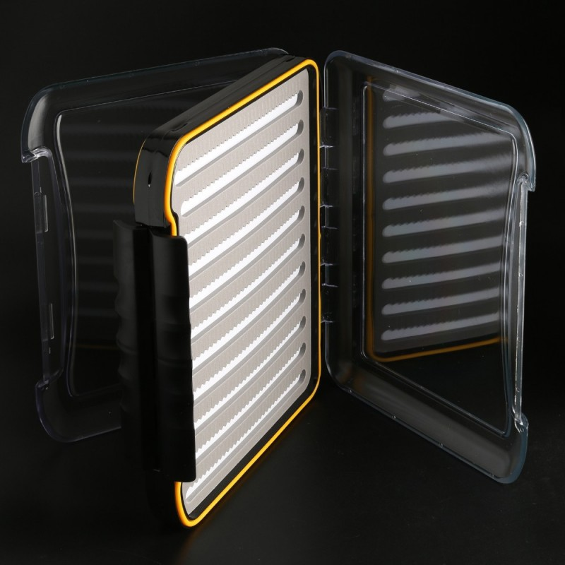 Fly Fishing Box Large Waterproof Slit Foam Fly Box--296*210*50mm