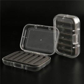 3 Pieces A Lot 125*88*34mm CBT Top Quality Plastic With Transparent Swing Leaf Fly Fishing Box