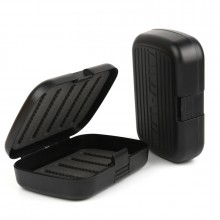 3 Pieces One Hand Open Fly Fishing Box Pocket Size 129mm*84mm*31mm Plastic Waterproof Fly Box