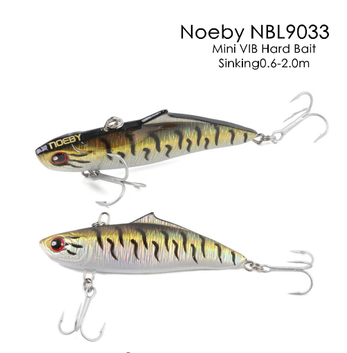NOEBY NBL9033 75mm/19g Mini VIB Hard Fishing Lure Sinking 0.6-2.0m Artificial Bait Hard Fishing Bait with VMC Hooks