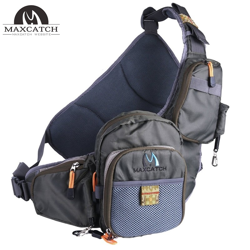 Fly Fishing Sling Pack Adjustable Backpack Fishing Sling Bag