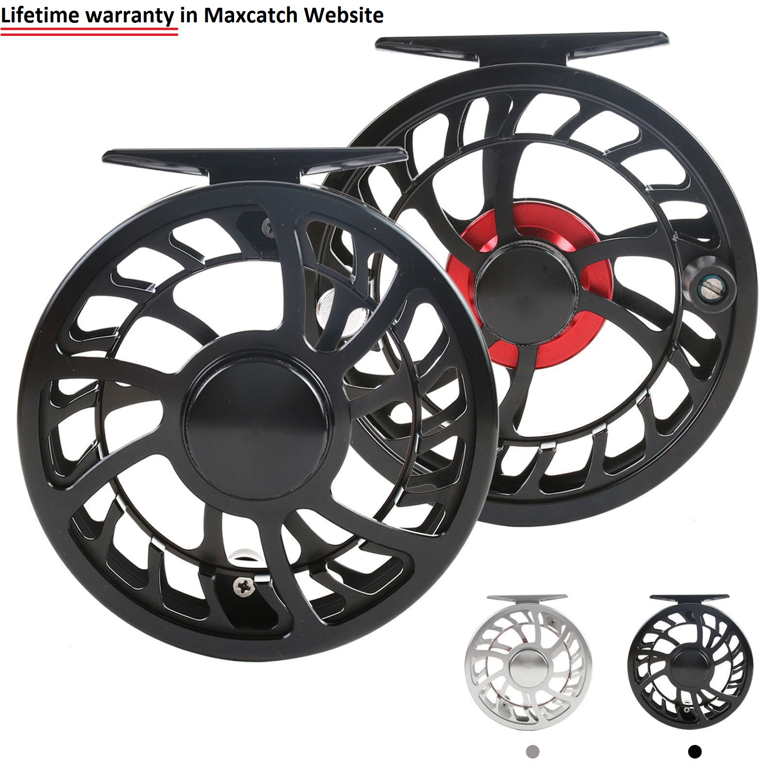 Professional Super Light CNC Machine Cut Large Arbor Aluminum Fly reel (Lifetime Warranty)