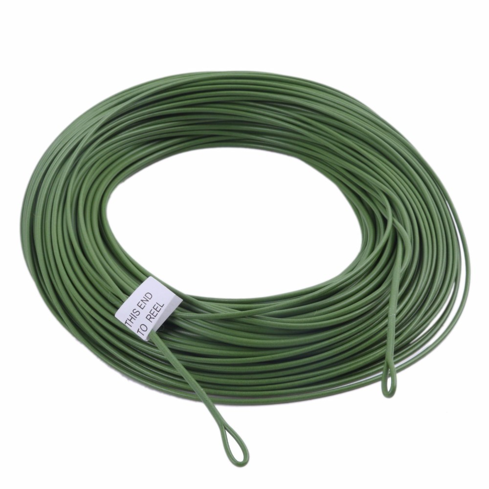 WF 10/12F Fly Line & Welded Loop Grass Green Weight Forward Floating Fly Fishing Line