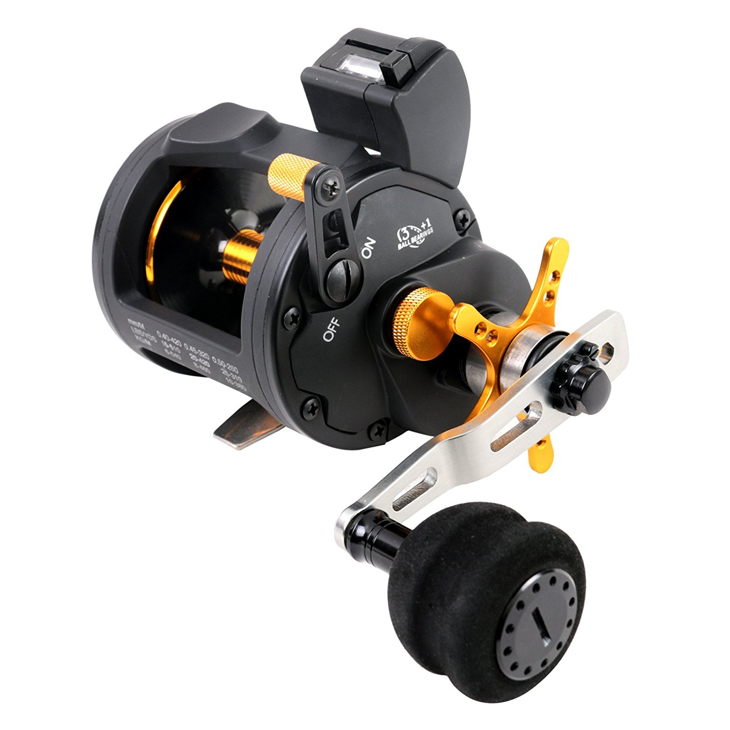Line Counter Trolling Reel, Saltwater Level Wind Fishing Reel, Right Hand