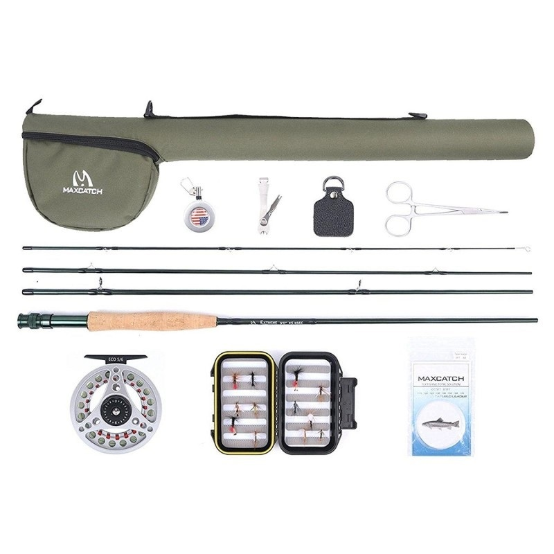 Extreme Fly Fishing Whole Combo Kit 3/5/6/8 weight Fly Rod and Reel Outfit