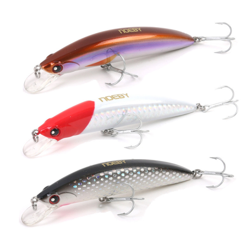 NOEBY 90mm/28g Minnow Bait Artificial France VMC Hooks Sinking0.6-2.5m Hard Lures For Fishing Leurre Peche
