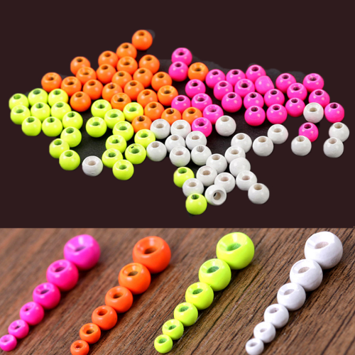 25pc 2.0-4.6mm Tungsten Painted Fly Tying Beads Fly Tying Material Fly Nymph Ball Beads